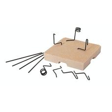 MESH-TRAY легкий трегер, включая 2 трегера, 6 изогнутых. и 4 прямых удерживающих штифта 1 мм
