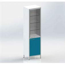 Шме-1см - шкаф закрытого типа, 2 секции, дверца из стекла с алюминиевым профилем