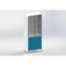 Шме-2см - шкаф закрытого типа, 2 секции, дверца из стекла с алюминиевым профилем
