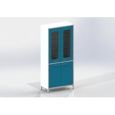 Шме-2см - шкаф закрытого типа, 2 секции, дверца из стекла в металлической рамке