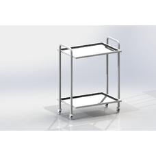 СИП2 - столик передвижной инструментальный, 2 полки из нержавеющей стали