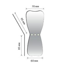 Зеркало для дентальной фотографии окклюзионное широкое (L), родиевое покрытие