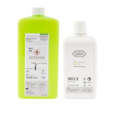 Масло и жидкость для аппарата Assistina (комплект: сервисное масло F1 (0,5 л) + дезинфицирующая жидкость (1 л)