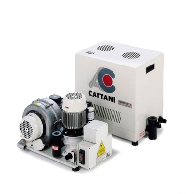 Turbo-Jet 2 - стоматологический аспиратор для влажной аспирации для 2-х стоматологических установок, с кожухом | Cattani (Италия)